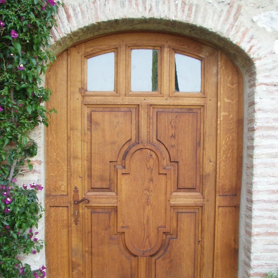 Porte entrée chêne massif