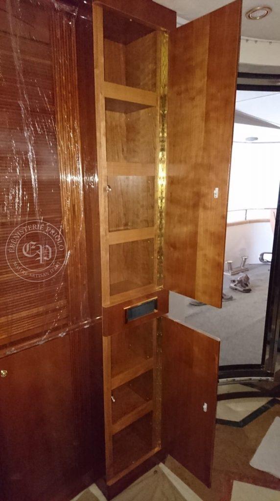 meuble de rangement de bateau placard à étagères