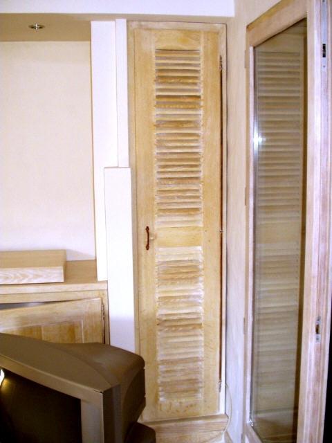 porte de placard en chêne lame rase