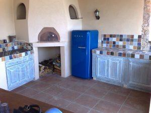 cuisine exterieure patine bleu