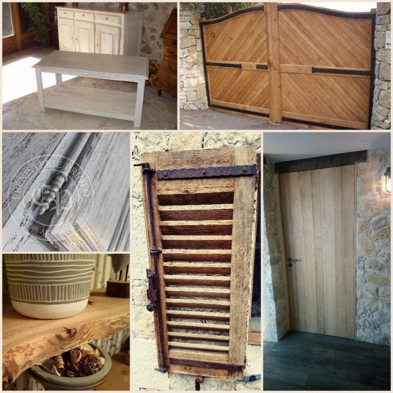 table porte portail meuble bois