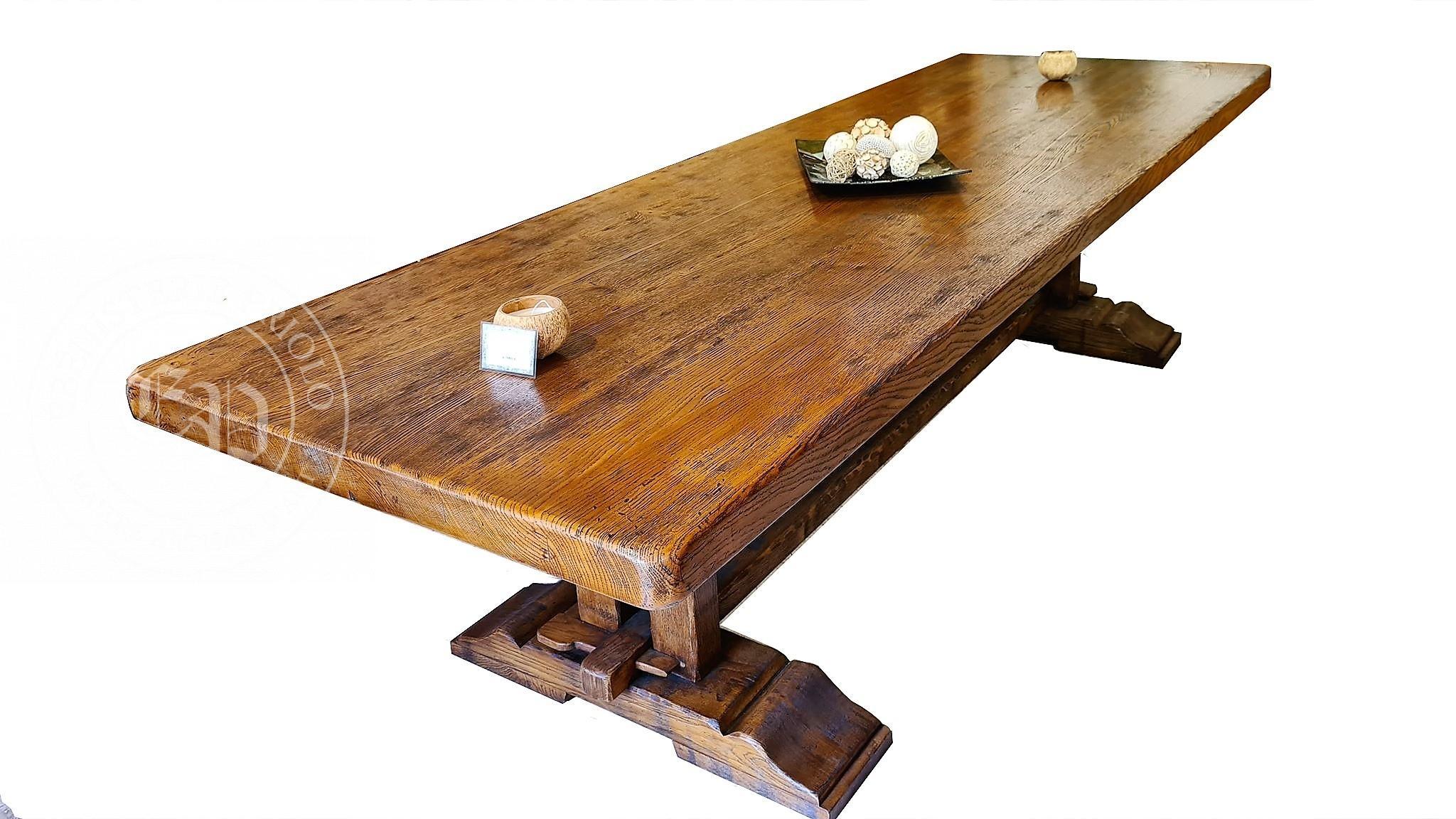 table monastère en chêne massif de france