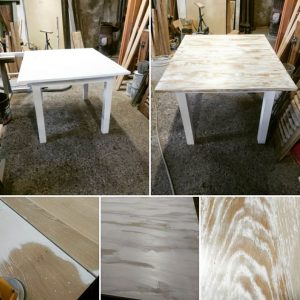 etapes de finition relloking table