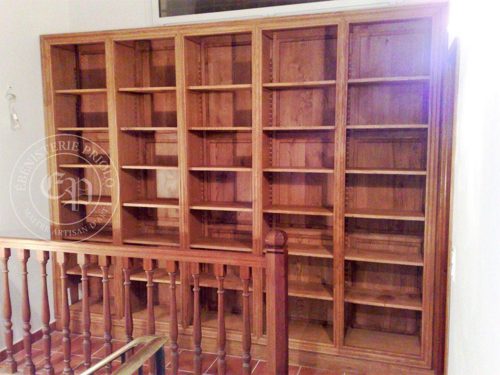 Bibliothèque 5 colones étagères réglables par crémaillère