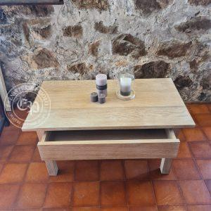 table basse tiroir ouvert