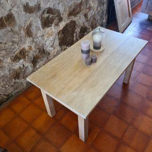 table basse vue plateau